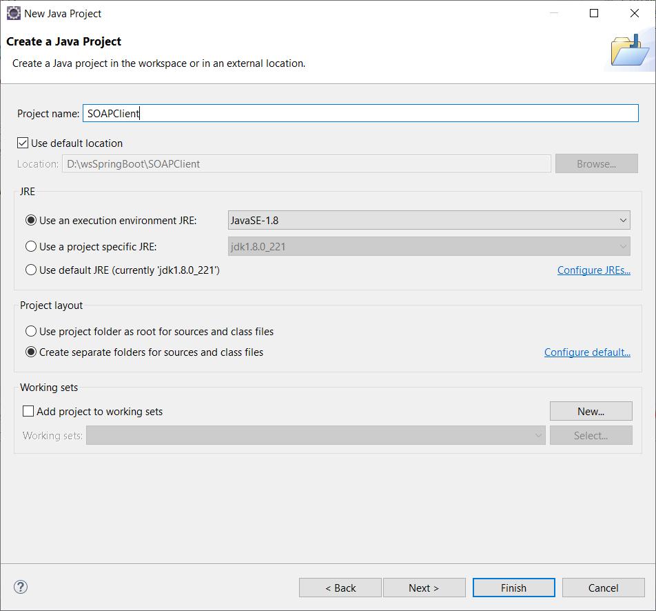 Crear una API SOAP Java JAX-WS