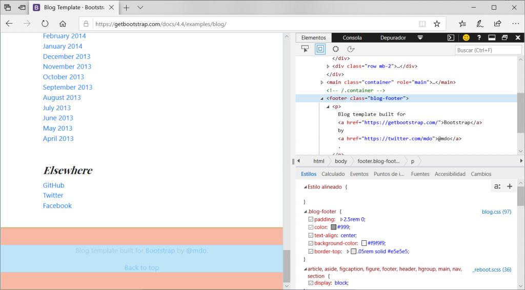 Ejemplos con Bootstrap 4