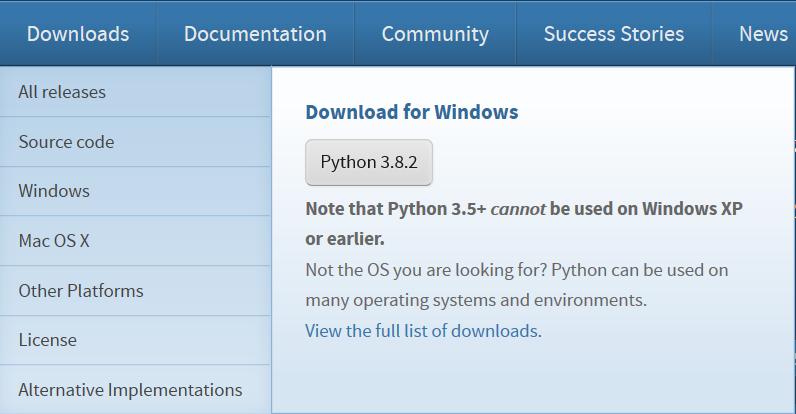 instalar python