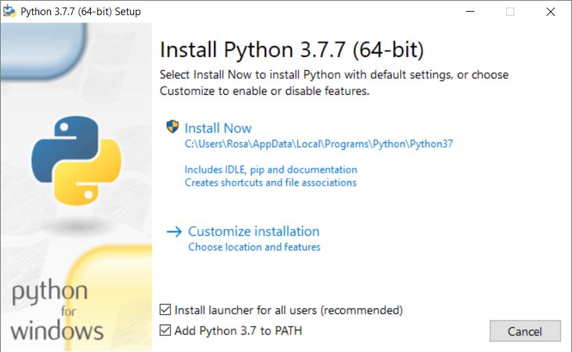 python install