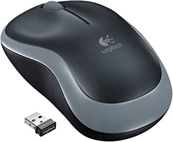 Logitech M185 Ratón Inalámbrico, 2,4 GHz con Mini Receptor USB, Batería 12 Meses, Seguimiento Óptico 1000 DPI, Ambidiestro, PC/Mac/Portátil, Gris